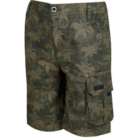 Regatta Shorewalk Shorts Boys Grape Leaf Camo Print